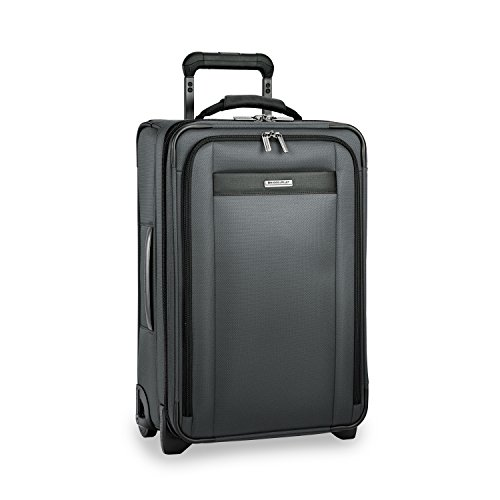 Briggs & Riley Transcend-Softside Expandable Tall Carry-On Upright Luggage, Slate, 22-Inch