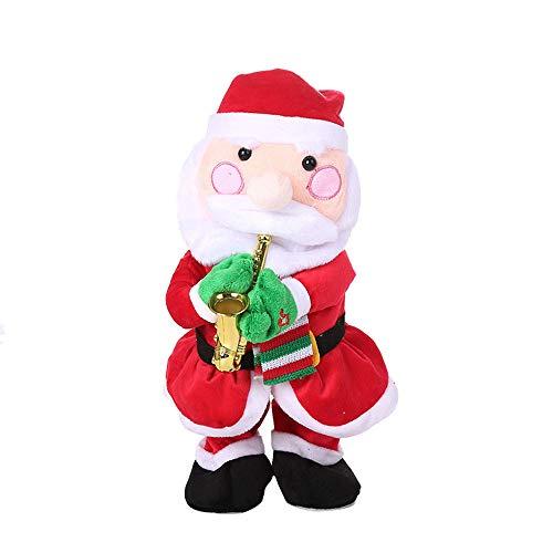 Stickit Graphix Christmas Santa Singing Santa Claus Christmas Plush Toy -Musical Decoration-Sings Jingle Bell Rock (A)