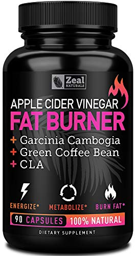 Apple Cider Vinegar Weight Loss Pills for Women - Garcinia Cambogia + Apple Cider Vinegar Pills for Weight Loss w. CLA & Green Coffee Bean Green Tea Fat Burner Pills - Detox Cleanse Weight Loss Pills