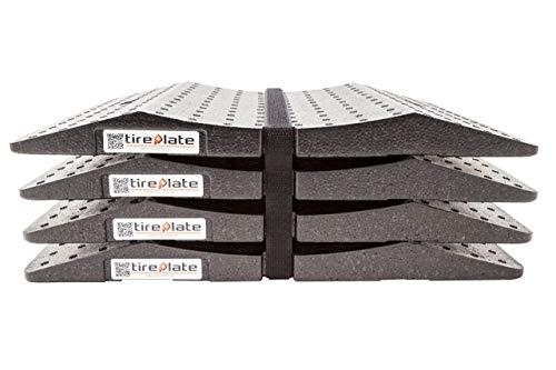 THE BOX Tireplate 4 Stück Reifenschoner Auto & Oldtimer Set aus EPP Kunststoff Reifenplatte Reifenbett