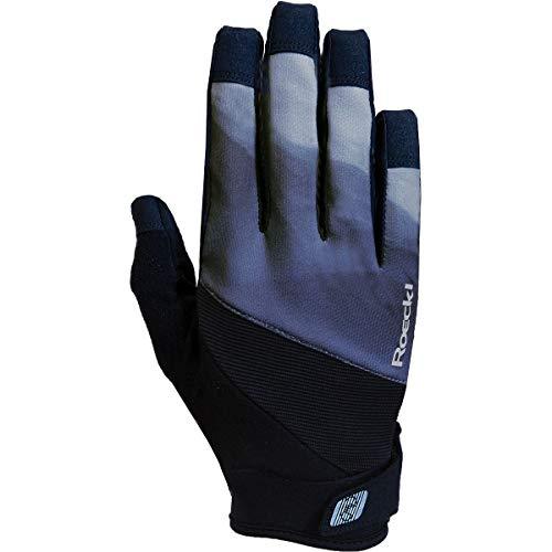 Roeckl Mals Fahrrad Handschuhe lang grau/schwarz 2020: Größe: 6.5