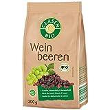CLASEN BIO Weinbeeren - 200g, sonnengetrocknet, ungeschwefelt, Natur aus vegan und glutenfrei, biologischer Anbau