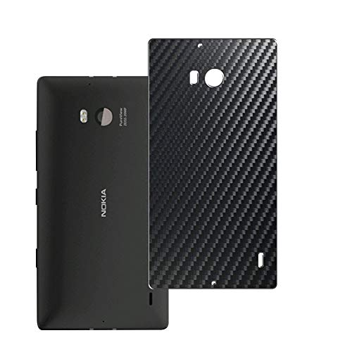 Vaxson 2-Pack Pellicola Protettiva Posteriore, compatibile con NOKIA Lumia 930, Back Film Protector Skin Cover [ Non Vetro Temperato ] - Fibra di Carbonio Nera