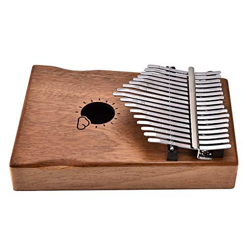 Guangcailun 17 Tasten Klavier Holzresonakammer Kalimba Tuner Hammer Tragetasche Song Book Instrument Kit