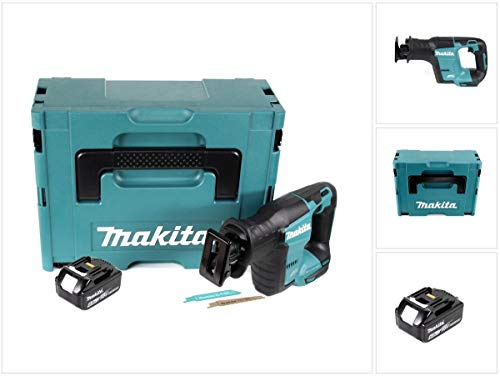 Makita DJR 188 G1J Akku Reciprosäge 18 V Brushless Säbelsäge im Makpac + 1x 6,0 Ah Akku - ohne Ladegerät
