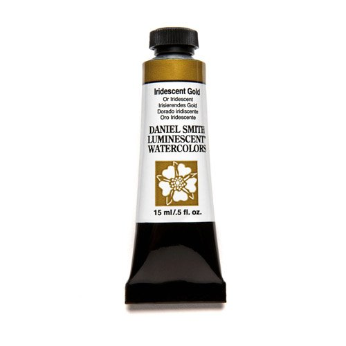 Daniel Smith 284640017 Extra Fine Watercolor 15ml Paint Tube, Iridescent Gold