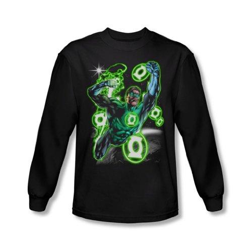 Green Lantern - Secteur Terre-shirt à manches longues pour hommes en noir -, XX-Large, Black
