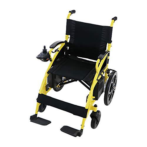 電動車椅子 黄 折りたたみ 車椅子 PSE適合 TAISコード取得済 コンパクト ノーパンクタイヤ 電動 手動 充電 電動ユニット 電動アシスト 電動カート 折り畳み 車椅子 車イス 車いす 四輪車 4輪車 移動 介護 福祉 電動車いす イエロー scoo