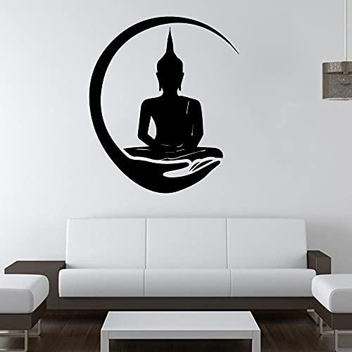 Etiqueta de la pared de Buda Shakyamuni, calcomanía de vinilo para sala de estar, papel tapiz de pared, pegatina de Buda grande, pegatina de pared A4 43x50cm