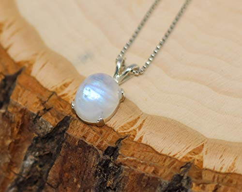 Gypsy Jewels Gemstone Necklace Rainbow Moonstone Necklace Boho Chic Jewelry Crystal Quartz Necklace Solid 925 Sterling Silver Necklace