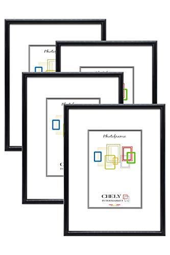 Chely Intermarket, Marcos de Fotos A3 MOD-312 (Negro) (Pack 4uds) Decoración de casa | Fotografías de Boda | Fotos de paisajes | Listado de Precio | Certificados universitarios (312-A3*4-0,45)