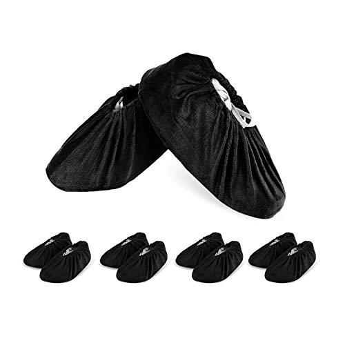 HOGAR AMO 5 Paare Schuhüberzieher Wiederverwendbare Überschuhe Flanell Anti-Rutsch Schuhe Bedeckung Atmungsaktiv Stiefel Überzüge Überziehschuhe