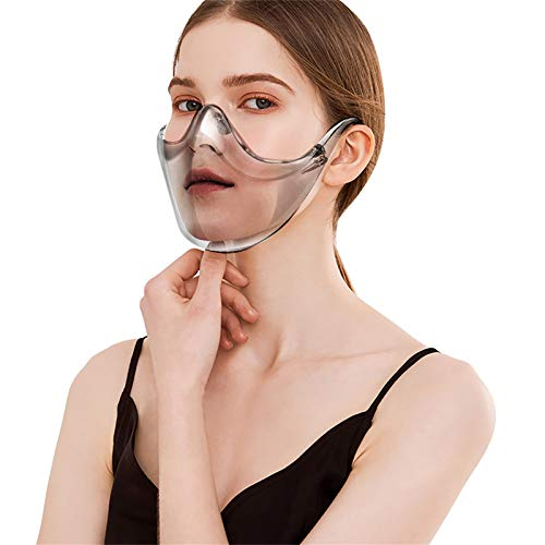 Breathable Clear Face_Shield, Reusable Anti-Fog Face_Masks Visible Expression for Teen Big Kids