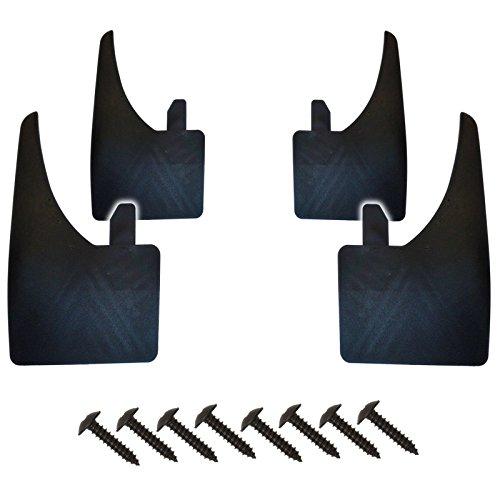 Universelle Schmutzfänger für vorne und hinten, qualitativ hochwertig, breit, 4 Stück und Schrauben.