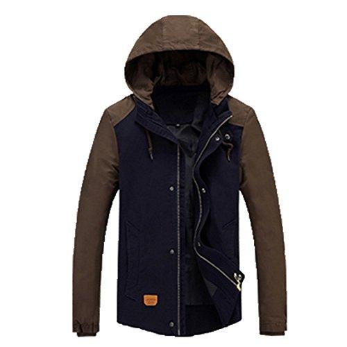 OHmais homme parka manteau d'hiver veste fourré