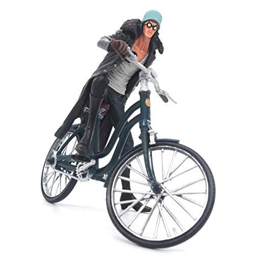 zxwd Una Pieza Azul Marino Modelo de Bicicleta Anime Modelo decoración Regalo de cumpleaños Creativo 16cm