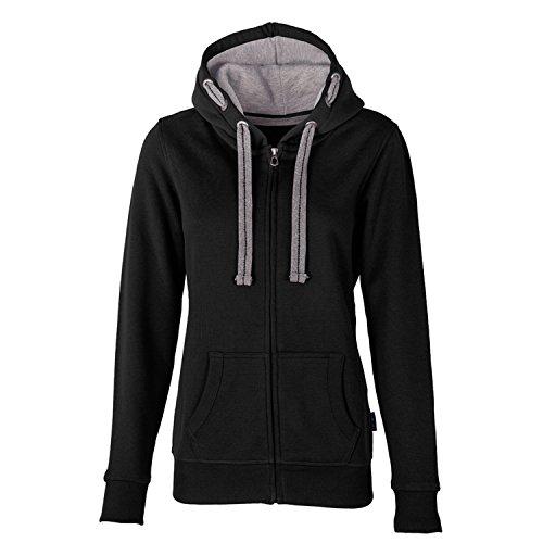 HRM Damen Jacket F Kapuzenpullover, Schwarz (Black 1), Small