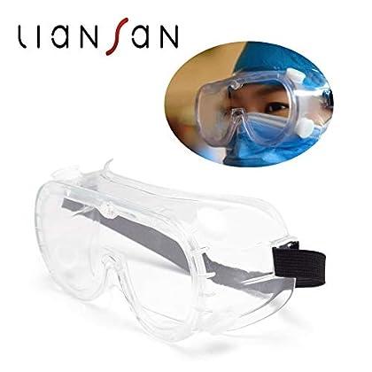 Gafas de Seguridad Transparentes con Gafas de Correa Virus de protección médica para los Ojos Anti Niebla (style3)