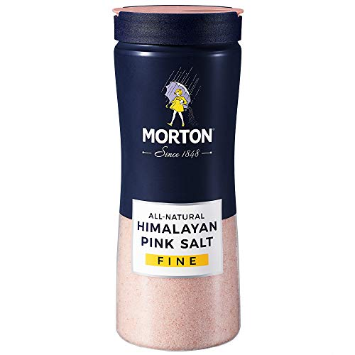 Morton Salt Himalayan Pink Salt, Fine - All natural for Baking, Blending and more, 17.6 oz. (Pack Of 12) -  AmazonUs/MORHE, F111940010B