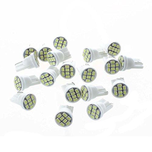 SODIAL 20X T10 W5W 168 194 8 SMD LED Ampoule Feux Lumiere Blanc Pour Voiture