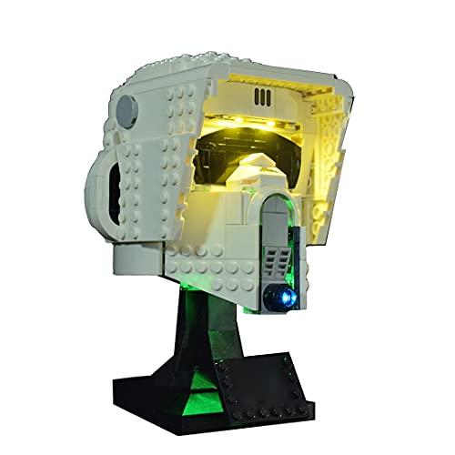 xSuper Kit de iluminación LED 75305 compatible con Lego 75305 Scout Trooper casco de construcción – (LED incluido solamente, sin kit de lego)