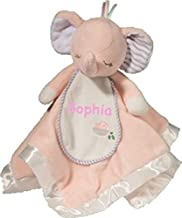 Personalized Sweet Little Pink Elephant Snuggler Baby Snuggle Blanket Gift - 13 Inches