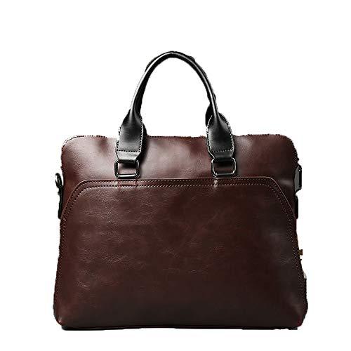 Work Office Bags Werk Tas Mannen Documents 13 in Laptop PU Leather Bag A4 Thin Briefcase Portafolio Hombre