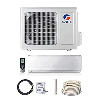 GREE 12,000 BTU 22 SEER Vireo+ Wall Mount Ductless Mini Split Heat Pump 208/230V - Built-in Wi-Fi - Comfort Value Kit