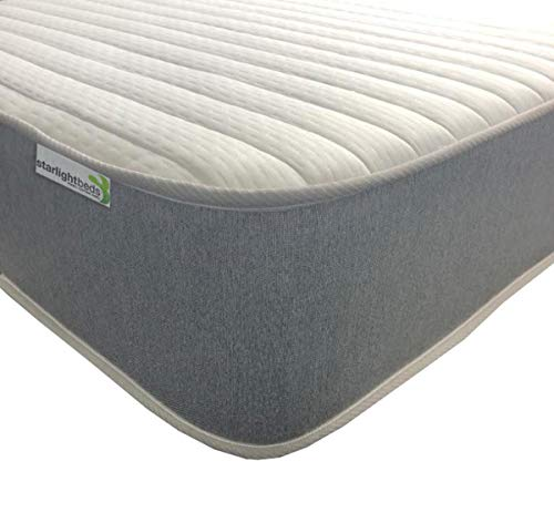 Starlight Beds - Single Mattress. Single Memory Foam Mattress. 3ft Memory Foam Sprung Mattress with Luxurious Jersey Knitted Fabric