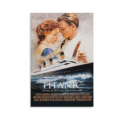 FRFK Titanic Movie Leonardo Dicaprio Billy Zane Kathy Bates dipinto su tela poster da parete con immagine di carta da parati del soggiorno 50 x 75 cm