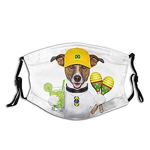 AOOEDM, maschera per il viso di un cane, lavabile, tascabile, riutilizzabile, con 2 filtri