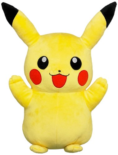 Tomy 71799 - Peluche Grande de Pikachu, Color Amarillo
