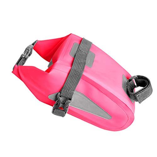 Fahrradtasche Fahrradhecktasche wasserdichte Fahrradsitz Sattel Wedge Pack Packtasche Aufbewahrungstasche Fahrradreparaturwerkzeuge Pocket Pack-Pink