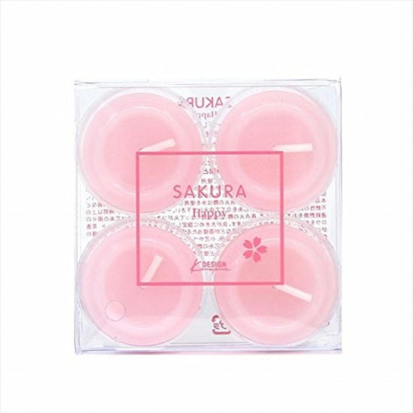印象的積極的に共同選択カメヤマキャンドル(kameyama candle) サクラクリアカップ4個入り