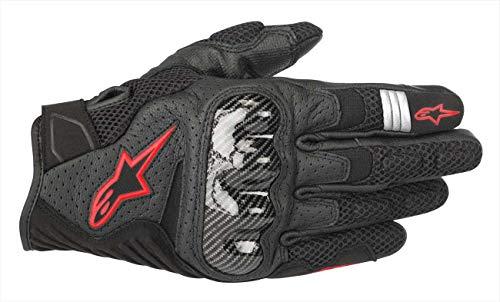 Alpinestars Motorradhandschuhe Smx-1 Air V2 Gloves Black Red Fluo, Schwarz/Rot, S