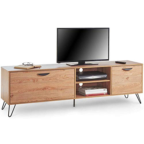 VonHaus TV Stand Media Unit – Entertainment Centre With Shelving and Drawers – Scandinavian Console Table Entertainment Centre – Lounge And Dining Room Furniture