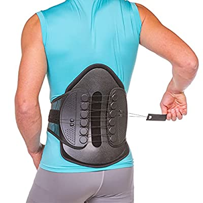 BraceAbility Lumbar Decompression Back Brace - Adjustable Semi-Rigid Lumbosacral Corset Belt for Discectomy, Laminectomy, Disc Injury, Back Muscle Spasms, Pre and Post Spine Surgery Protection (Large) from BraceAbility