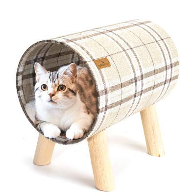 LYKH Katze Haustier liefert High-End-einfache Katze Holzzylinder Katzenstreu Katzenbett Vier Jahreszeiten Universal Zwinger-Woodencatlittercatbed