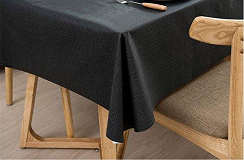 Ommda Nappe de Table Rectangulaire PVC Imperméable pour Picnique 120x120cm Gris foncé