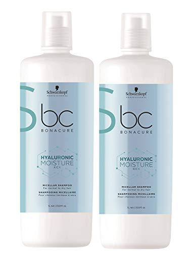 2er Schwarzkopf Professional Bonacure Hyaluronic Moisture Kick Shampoo 1000 ml