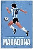 Refosian Football Legende Diego Armando Maradona Wandkunst