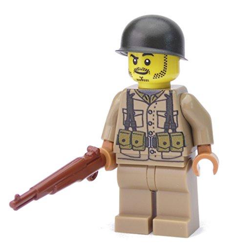 Soldato Americano | Equipaggiato con BrickArms M1 Garand e casco | Figura custom stampata