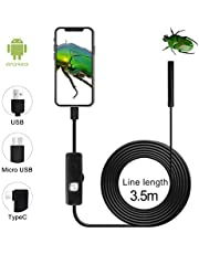 QiCheng&LYS Cámara de inspección inalámbrica, endoscopio WiFi Impermeable 1200P cámara Serpentina de Alta definición, Adecuada para teléfonos Inteligentes Android e iOS, tabletas