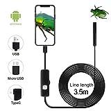 QiCheng&LYS Cámara de inspección inalámbrica, endoscopio WiFi Impermeable 1200P cámara Serpentina de Alta definición, Adecuada para teléfonos Inteligentes Android e iOS, tabletas (3.5m)