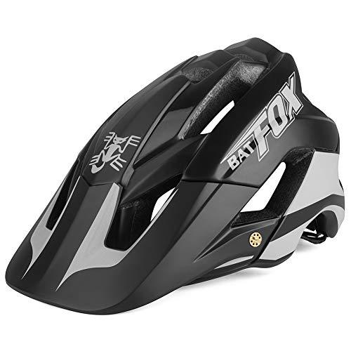 OMGPFR Casco De Bicicleta De Montaña para Adultos, 14 Venteo Absorción Absorción De Impactos PC Resistente A Los Golpes Casco De Bicicleta De Montaña Deportiva (Bright Black)