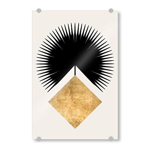 artboxONE Acrylglasbild 150x100 cm Abstrakt Shape Crown Bild hinter Acrylglas - Bild Krone Fahne viereck