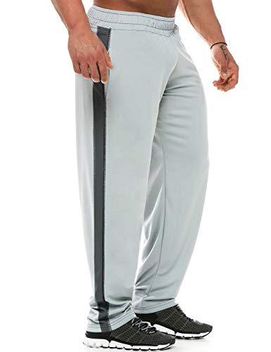 GYMAPE Pantaloni Larghi da Uomo per Allenamento Yoga Maglia da Palestra Leggera in Poliestere ad Asciugatura Rapida Color Gray Size L