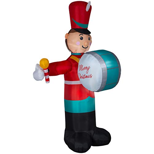 Gemmy 8' Animated Airblown Drumming Soldier Christmas Inflatable