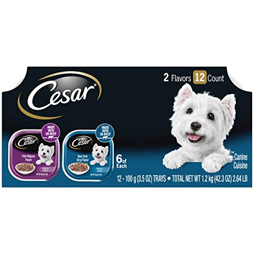 Price comparison product image Cesar Filets Variety Pack - Beef Flavor Dog Food Trays,  3.5 oz. (12 Count)