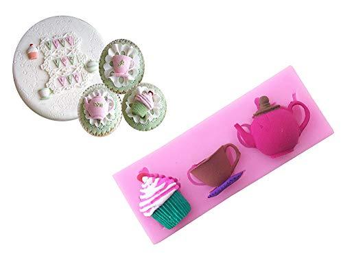 sina Teekanne Tee Dessert Silikonform-Teekanne Tee Dessert Kuchen Form-Teekanne Teekuchen Backform-1Stück